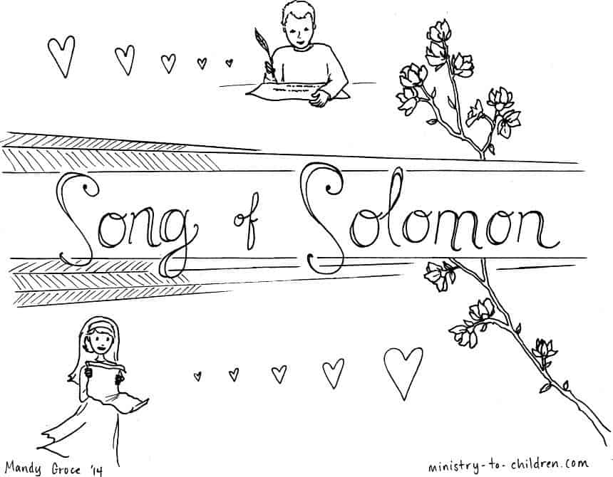 """Song of Solomon"" Bible Book Coloring Page"