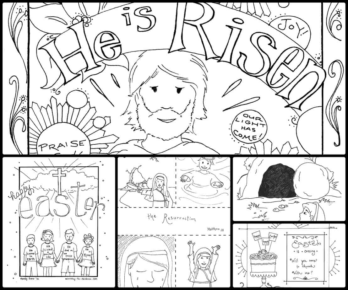 15 Easter Coloring Pages [Religious] Free Printables for Kids | free printable religious coloring pages for easter