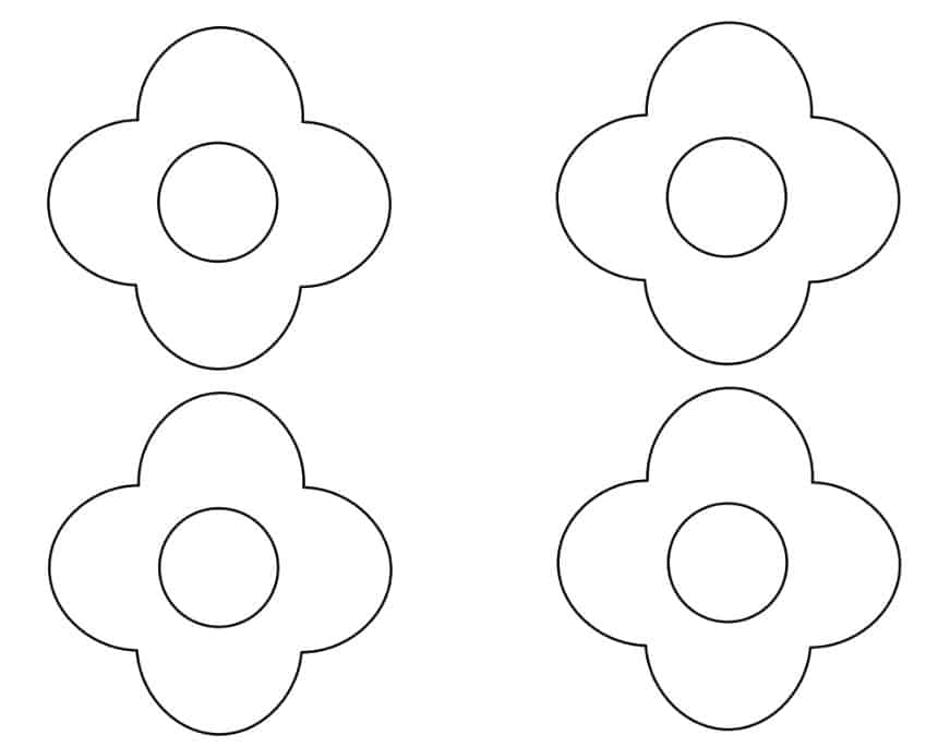 Mother's Day Flower Craft Template - click here to print