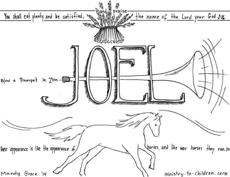 Joel Coloring Page - Bible Printable