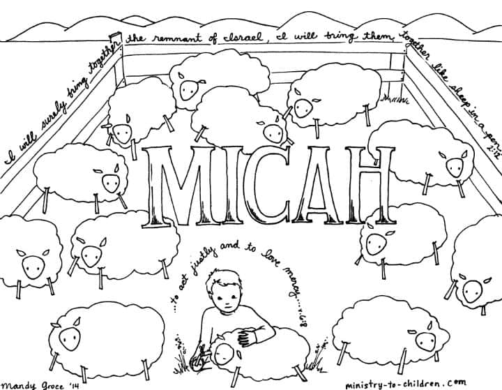 Micah Bible coloring pages