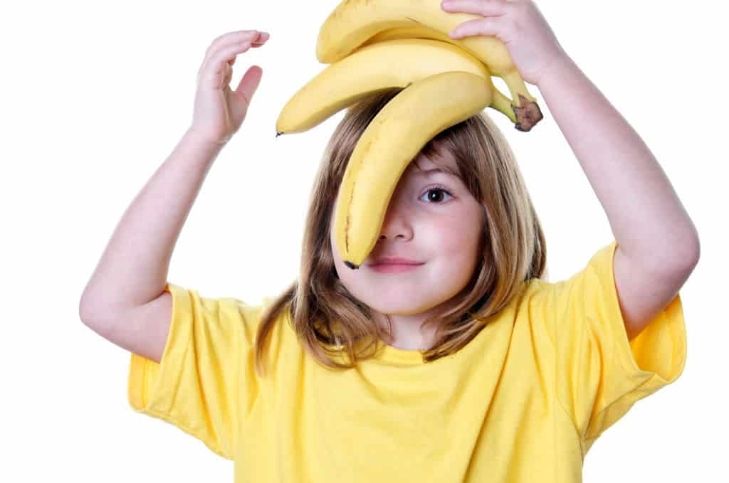 Giving Object Lesson with Bananas