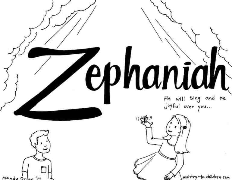 Zephaniah Bible Coloring Page