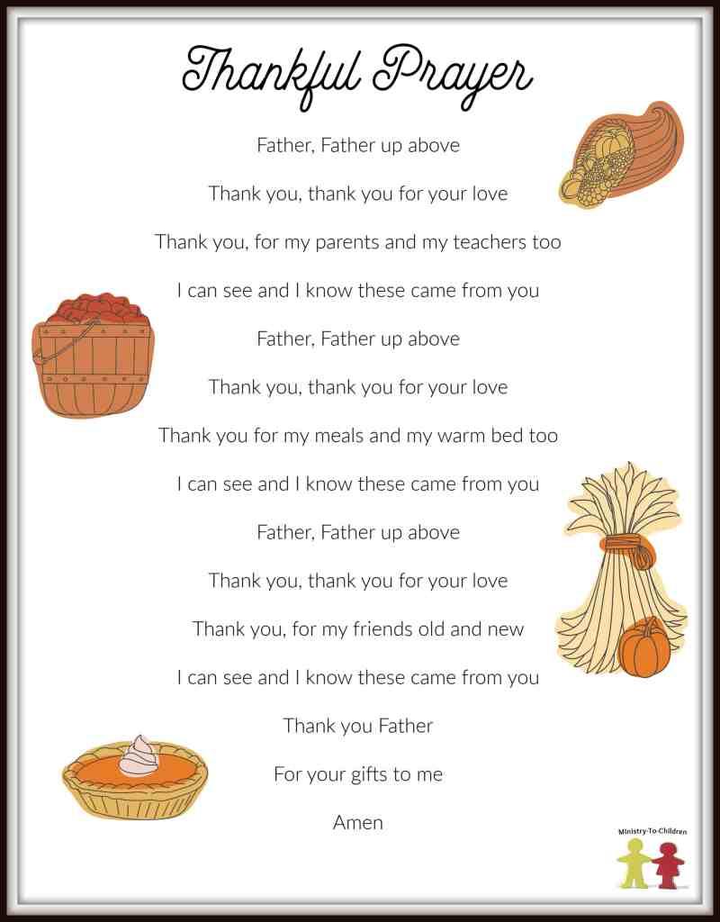 Thanksgiving Prayer for Children
