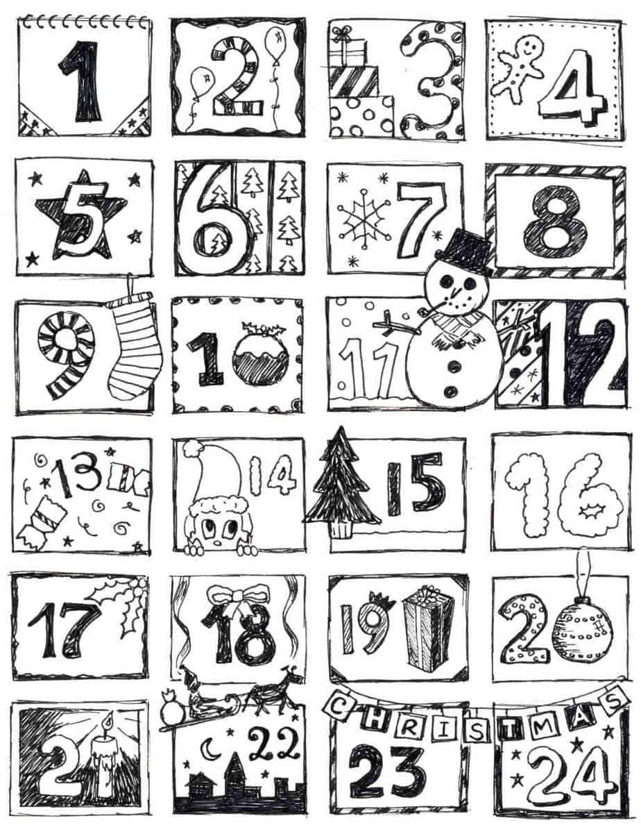 Free Toddler Christmas Coloring Pages | Printable christmas ... | 1201x924