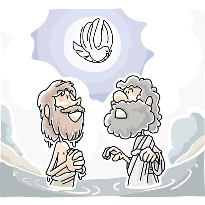 Baptism Of Jesus Matthew 3 17 Preschool Sunday School
