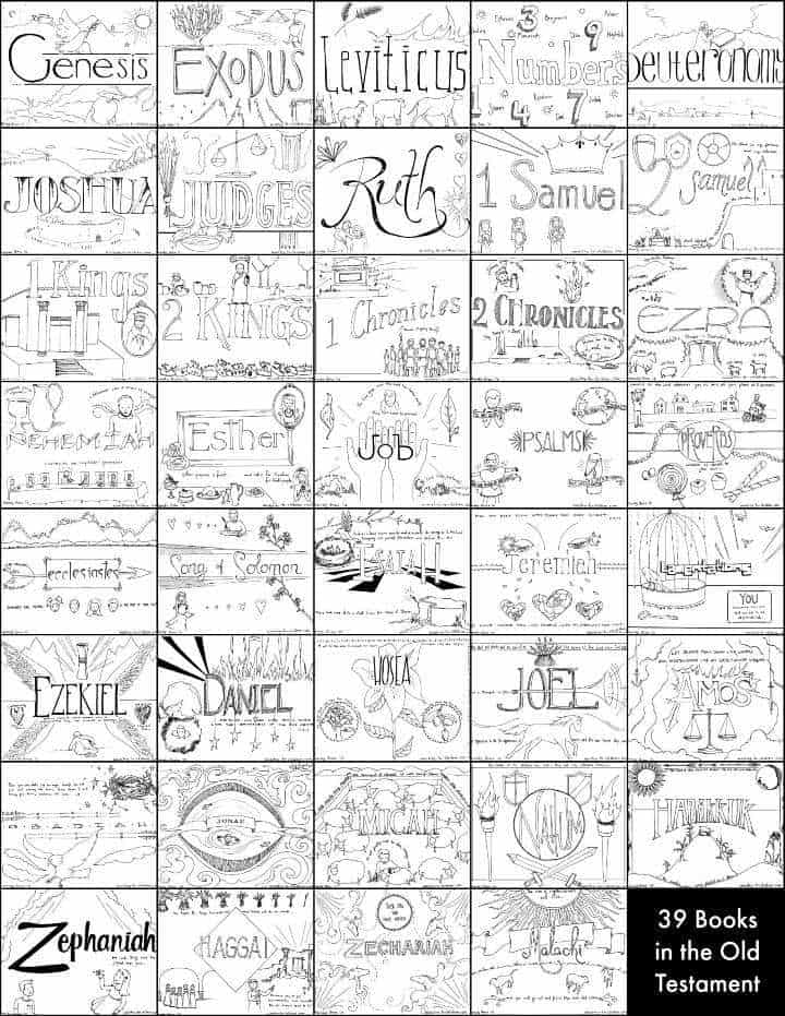39 Books Of The Old Testament Bible Coloring Pages Ministry To