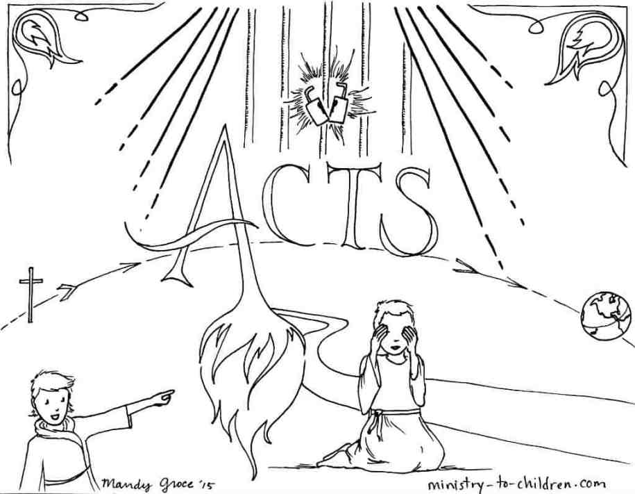 """Free """"Book of Acts"""" Bible Coloring Page"""