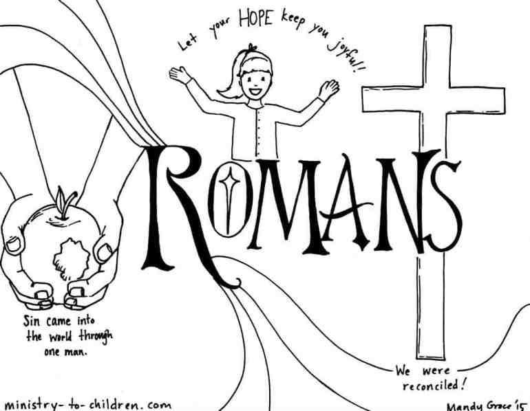 """""""Romans"""" Bible Book Coloring Page"""