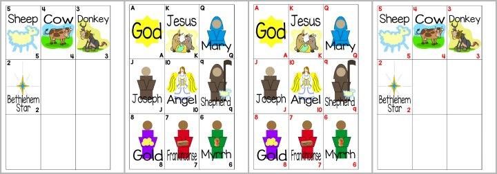 Printable Christmas / Manger Playing Cards for Kids