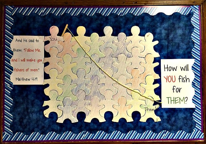 Fishers of Men Bulletin Board Idea (Matthew 4:19) for Sunday School