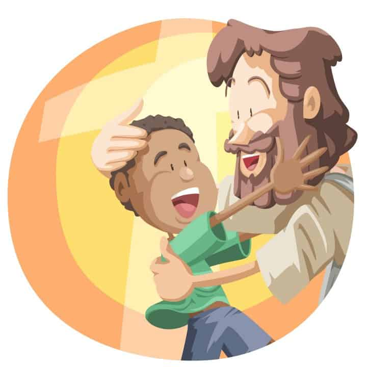 Bible Lessons for Kids  - Jesus welcomes child clip art