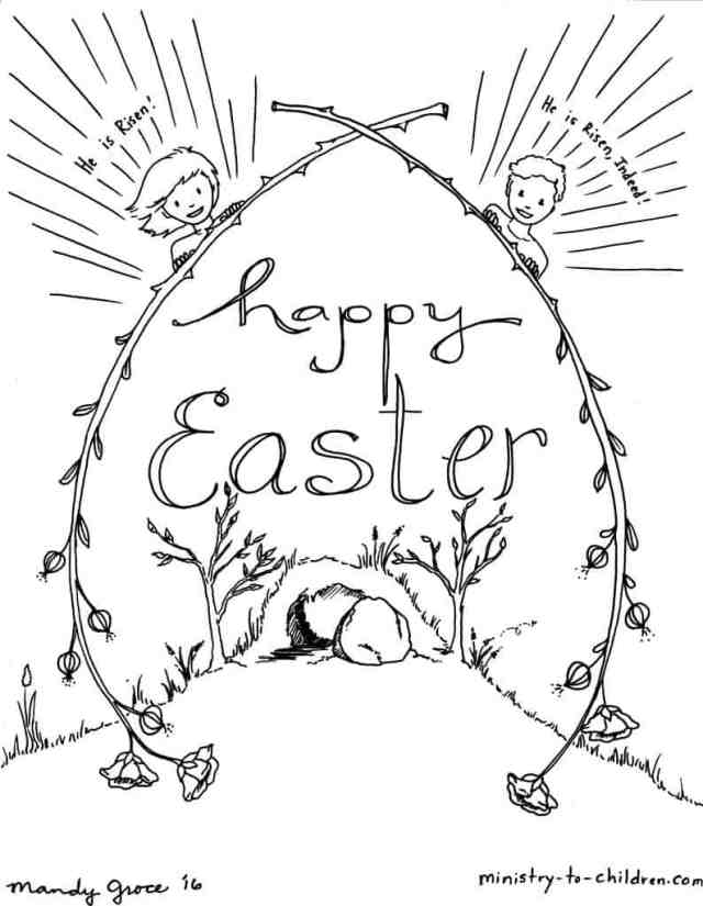 Kids Easter Coloring Sheets - Ministry-To-Children