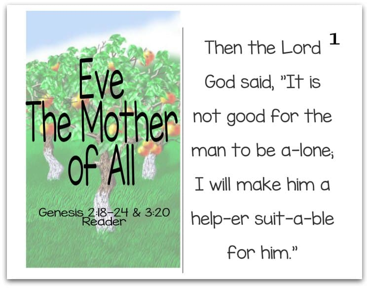 Story of Eve Reader (Mothers of the Bible Part 1 of 9)