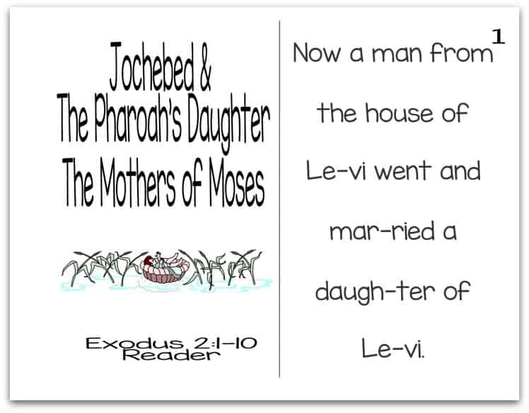 Story of Pharaoh's Daughter Reader (Mothers of the Bible Part 5 of 9)