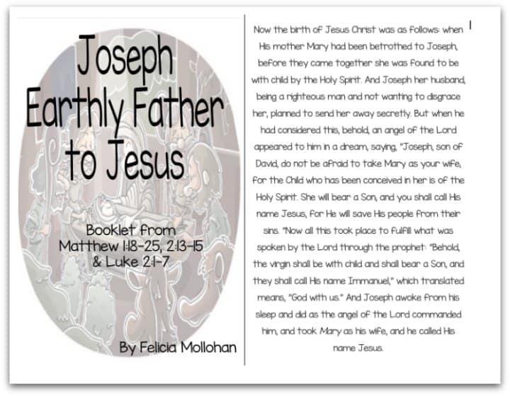 """Joseph: Jesus' Earthly Father"" Bible Story Booklet"