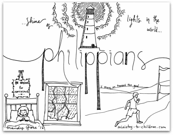 """""""Philippians"""" Bible Book Coloring Page"""