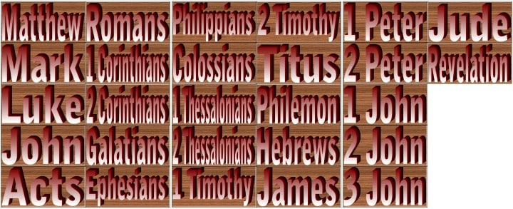"""""""New Testament Books of the Bible"""" Memory Match Game Cards"""