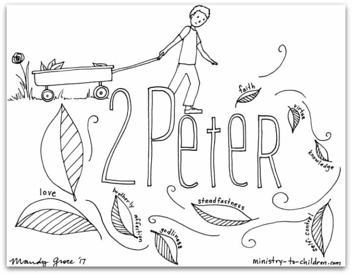 Printable Coloring Page for the Book of 2 Peter