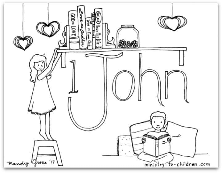 """1 John"" Bible Book Coloring Page — Ministry-To-Children.com"