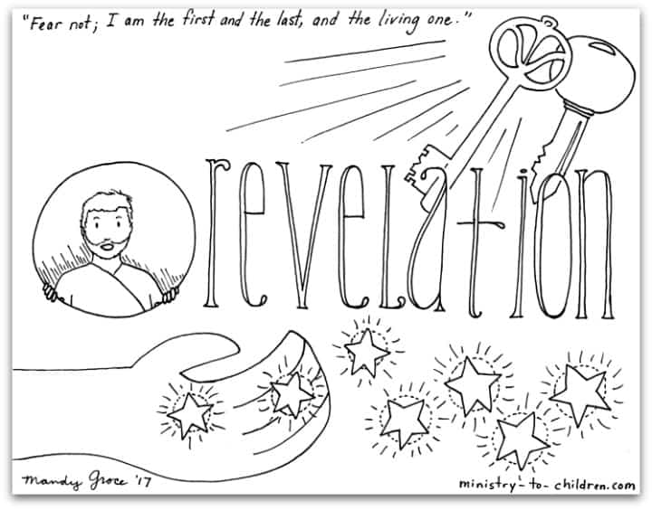 """""""Revelation"""" Bible Book Coloring Page — Ministry-To"""