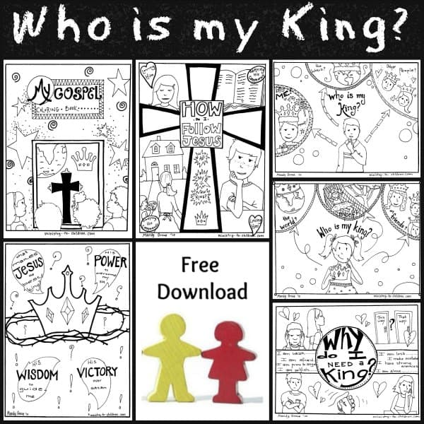 Following King Jesus Coloring Book