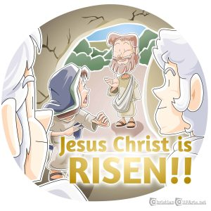 Jesus is Risen Clip Art for Easter