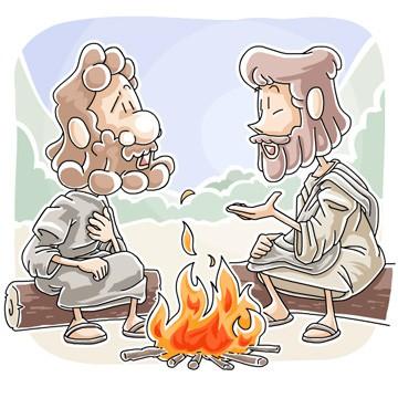 Jesus forgives Peter clipart
