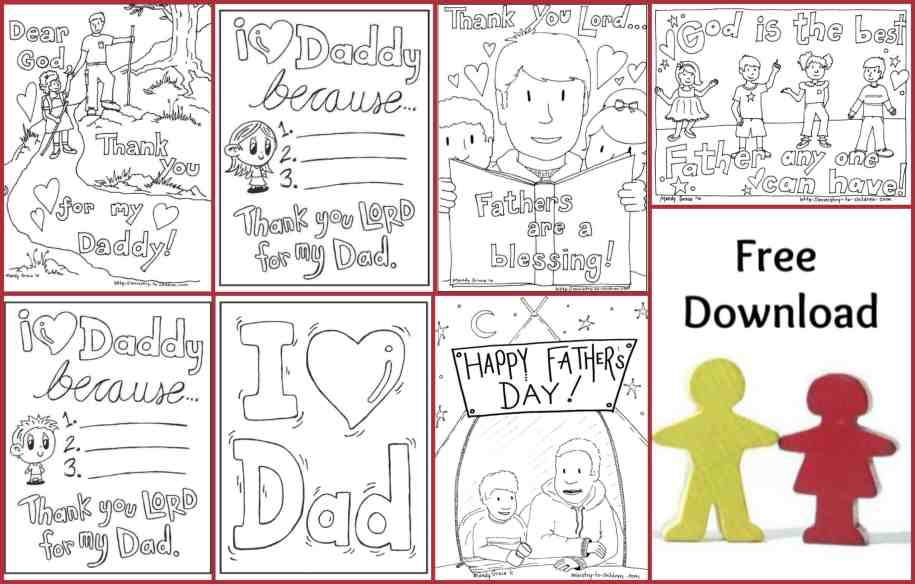 Fathers Day Coloring Pages - Free Printable