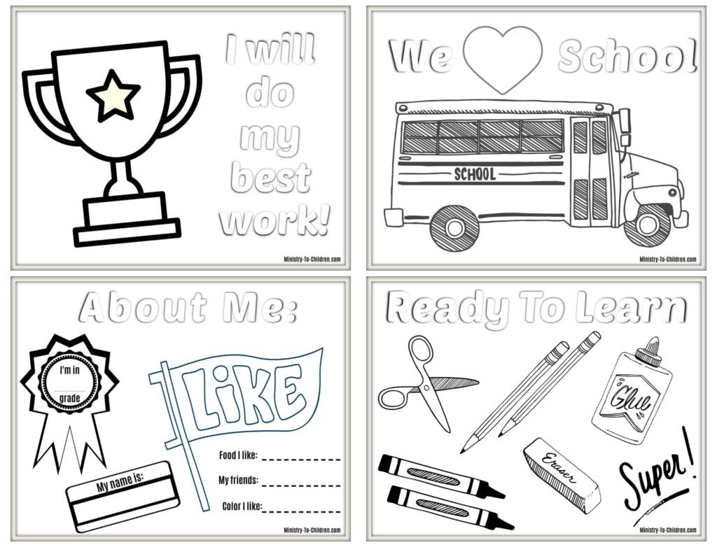 6 Back To School Coloring Pages Free Printables For
