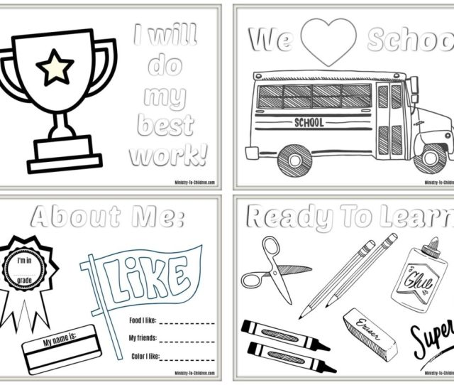 Back To School Coloring Pages Ministry To Children