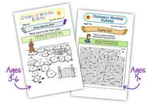 children's worship bulletin
