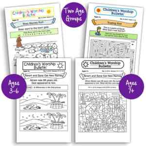 Children's Worship Bulletins