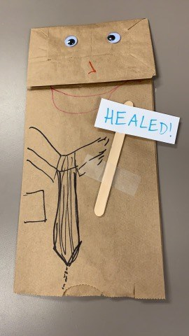 healed leper sunday school craft