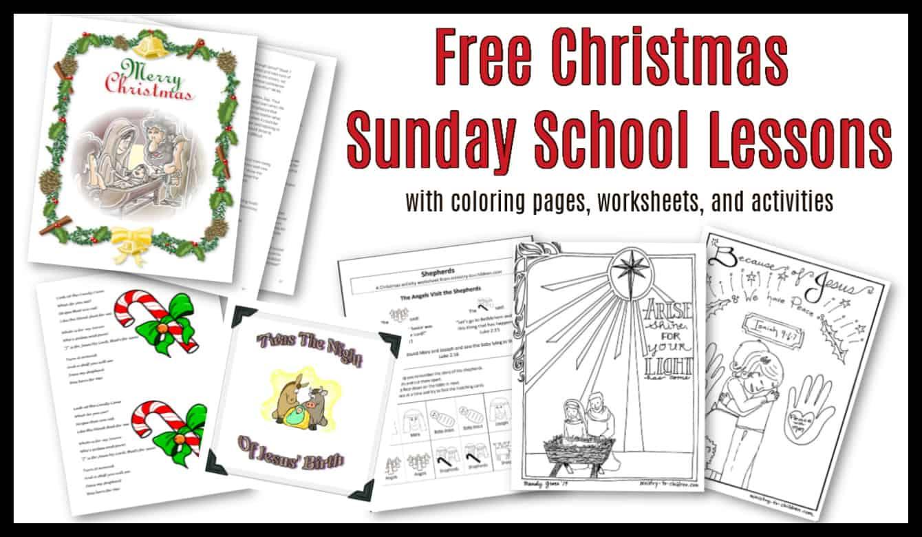 30 Christmas Sunday School Lessons Activities 100 Free Children S Church Curriculum