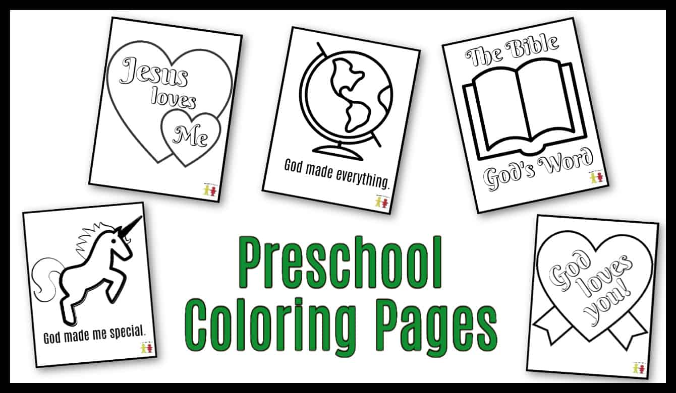 Preschool Coloring Pages Easy Printables Ministry To