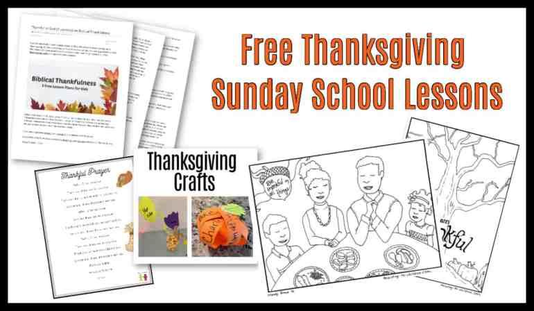 Free Thanksgiving Sunday School Lessons
