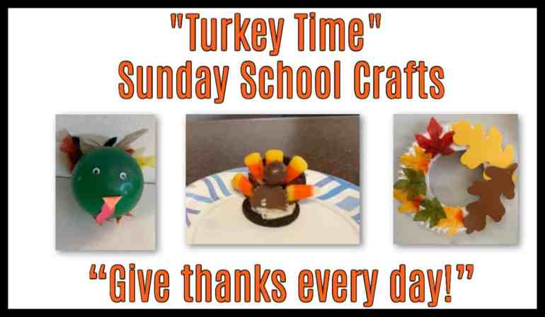 Thanksgiving Turkey Crafts for Sunday School