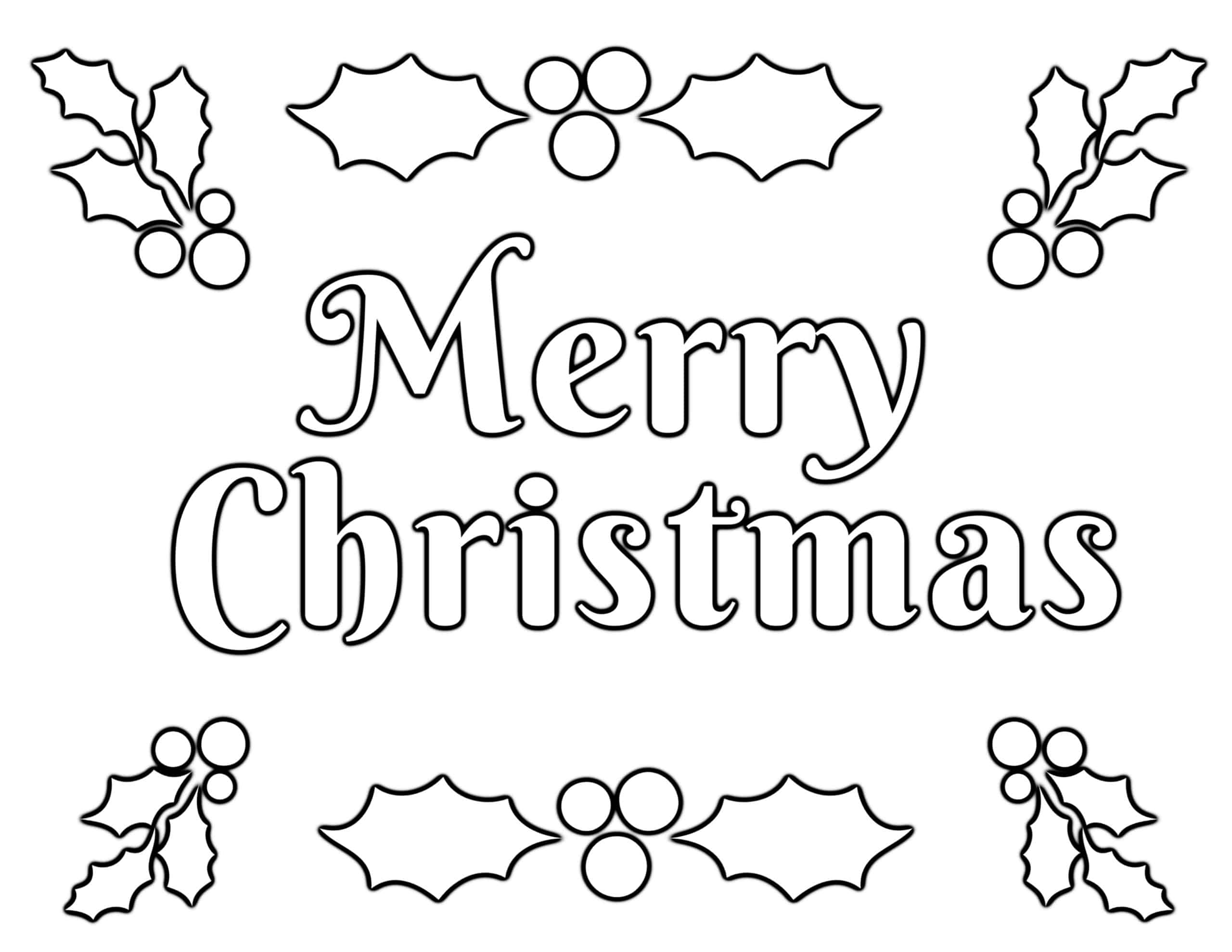 Christmas Coloring Pages for Kids (100% FREE) Easy ...