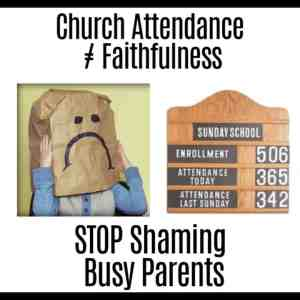 children's ministry does not include shaming parents