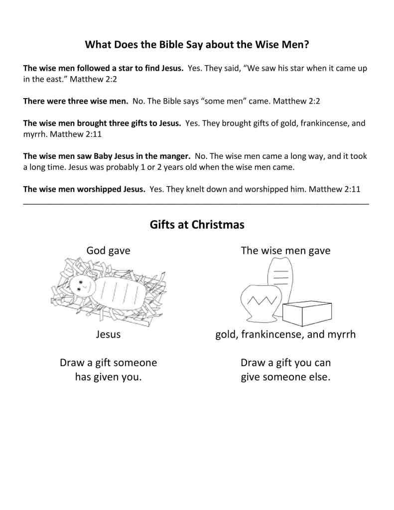 worksheets on Jesus birth