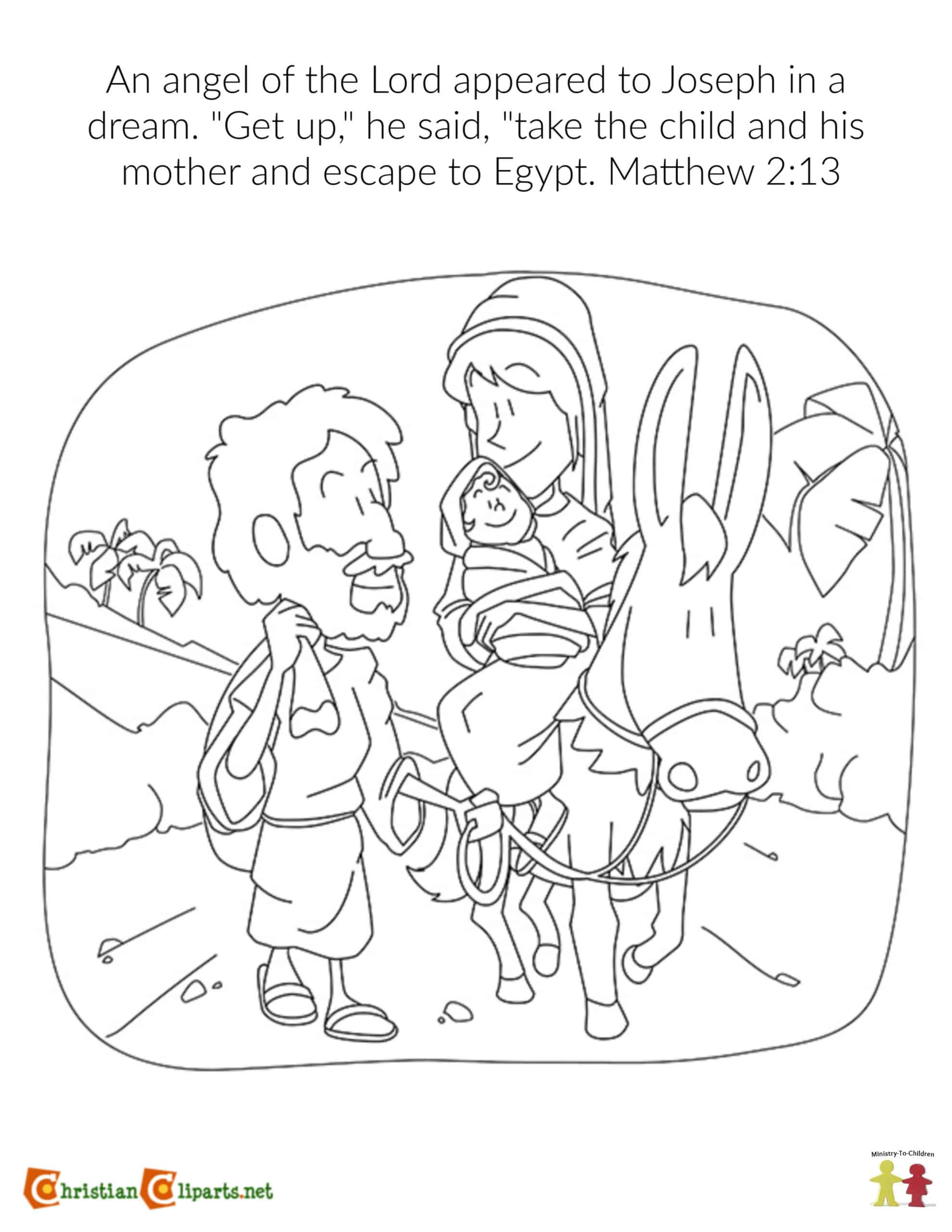 Mary And Joseph The Birth Of Jesus Sunday School Lesson