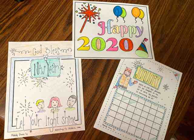 """New Years Coloring Page 28 """"Let Your Light Shine"""" (Free"""