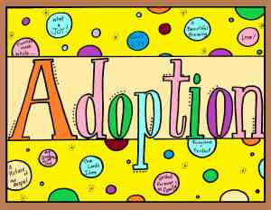 kids' adopted coloring book