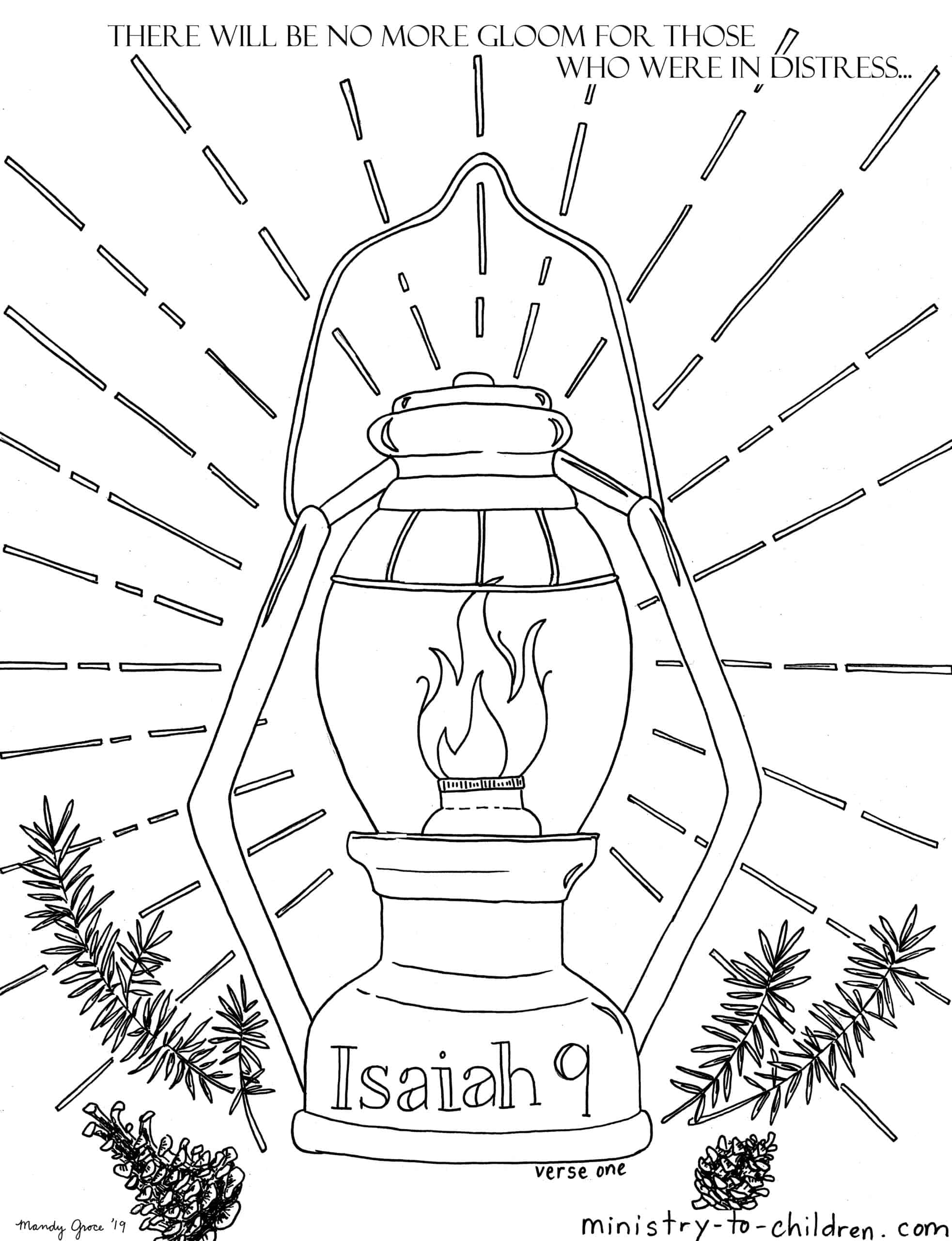 Isaiah 9 Coloring Pages: People in darkness have seen a