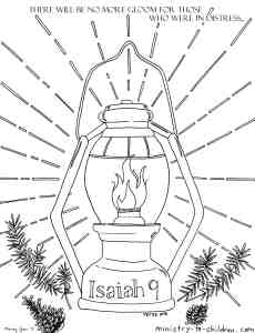 Isaiah 9 verse 1 Coloring Page