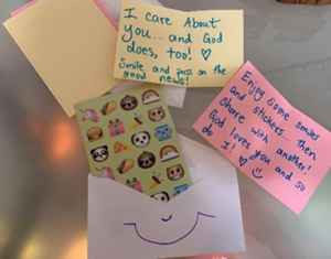 """Craft one: """"Sharing and Caring Envelopes"""" (Homemade stationary)"""