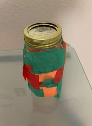 "Craft Two: ""Stained glass light in a jar"""