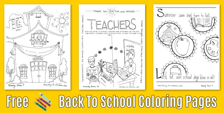6 Back To School Coloring Pages Free Pdf Printables For 2020