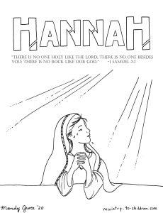 Hannah Coloring Page